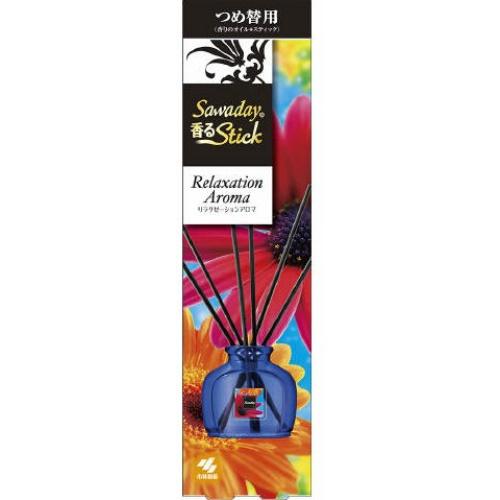 【送料無料・まとめ買い×070】小林製薬 サワデー SAWADAY 香るSTICK つめ替用 リラクゼーションアロマ 50ml ×070点セット(4987072047668)
