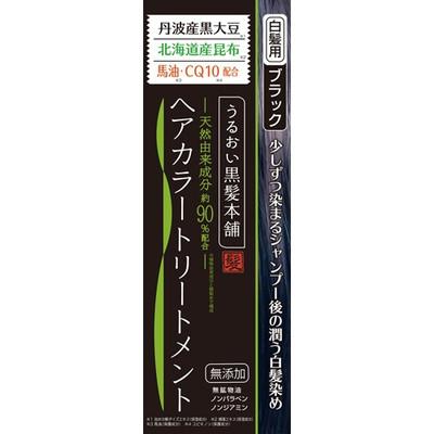 【送料無料・まとめ買い×48】三和通商 うるおい黒髪本舗ヘアーカラーブラック ×48点セット(4543268078047)