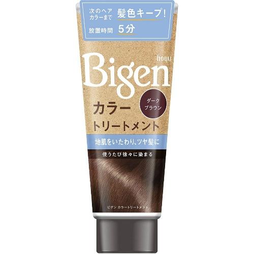 <title>髪や地肌をいたわりながら 少しずつ白髪を染めます ホーユー Bigen ビゲン カラートリートメント ダークブラウン 安売り 内容量:180g 4987205030918</title>