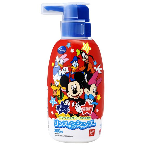 Bandai shampoo pump Mickey Mouse body 300 ml × 10 set hypo colorant child's scalp and hair gently washing the hair (4543112581617)