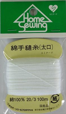 【300個で送料無料】ソミールプロダクツ 綿手縫糸 太口白 S4-3 ( 1個 ) ×300点セット ( 4972599665037 )