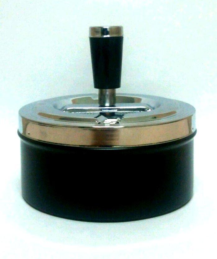 シンプルなカラーリングとデザイン 令和 ストア 早い者勝ちセール ペンギンライター 卓上灰皿 商い 回転灰皿 中 シルバー×ブラック PAシリーズ 4982397905440