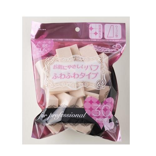 日本正規代理店品 天然ゴム素材なのでお肌にやさしいもちもちふわふわの感触です三角 30P 店舗 KQ3063 プロ用 ファンデーション パフ 三角形 4901601283020 ブロック