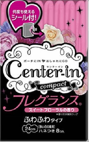【送料込】【ユニ・チャーム ( ユニチャーム ) 】【Center IN】センターインコンパクト フレグランススイート多い日昼用 8枚【8マイ】×60点セット まとめ買い特価!ケース販売 ( 4903111361748 )