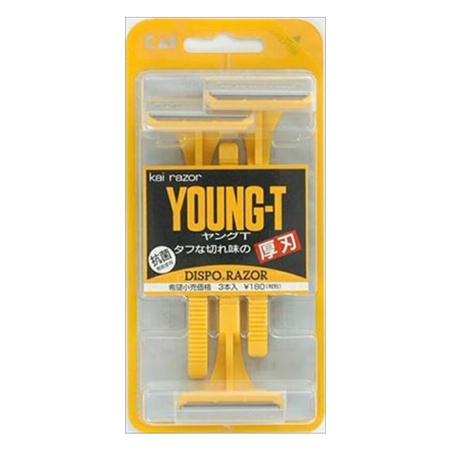 200個で送料込 貝印 ショップ ヤングT YNGT-3B 特別セール品 3個入×200点セット 4901331004353