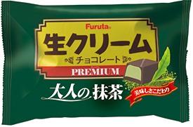 Furuta confectionery raw cream Choco premium Matcha 18 × 16 pieces (food, sweets and green tea)
