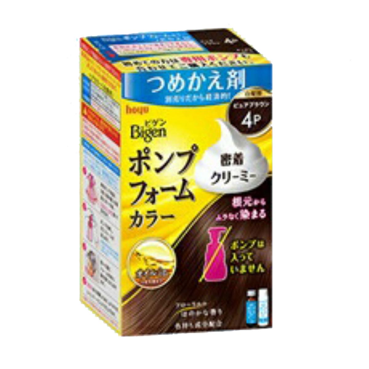 【27個で送料無料】【ホーユー】ビゲン ポンプフォームカラー つめかえ剤 4P ピュアブラウン×27点セット ( 4987205032066 )