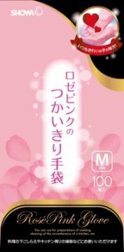 【20個で送料無料】ショーワグローブ ロゼピンクのつかいきり手袋M 100枚 ×20点セット ( 4901792024440 )