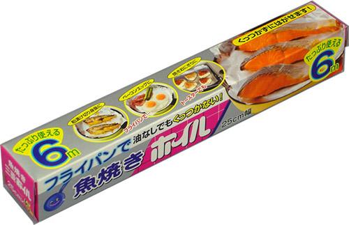【送料無料・まとめ買い×060】三菱アルミニウム 魚焼きホイル 25cmX6M ×060点セット(4902951700496)
