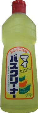 湯あかを分解するイオン洗浄システムのおふろ用洗剤です。 4903367001771 ロケット石けん マイバスクリーナー 500ML シトラスレモンの香り ( お風呂用洗剤 ) ( 4903367001771 )