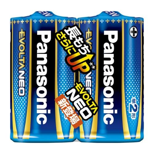 【送料込・まとめ買い×100】パナソニック エボルタNEO 単2乾電池 2本パック LR14NJ/2SE エボルタネオ 単2形 2本 シュリンクパック ×100点セット(4549077898562)