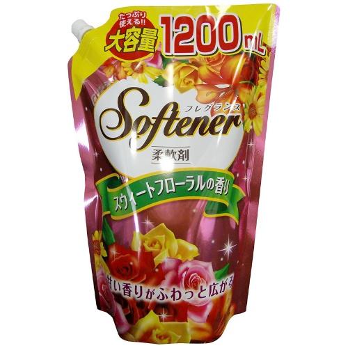 キャップ付き大容量 フレグランス ソフター スウィートフローラルの香り 信頼 1200ml 大容量 入荷予定 4904112828162