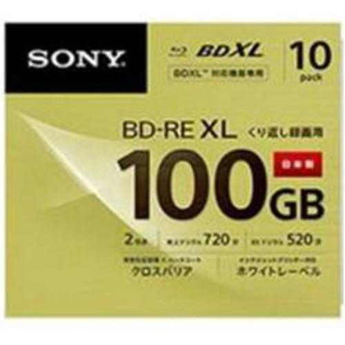 【送料無料・まとめ買い×10】SONY ソニーブルーレイ3層 BD-RE 100GB 10枚パック 繰り返し録画用×10点セット(4548736007758)