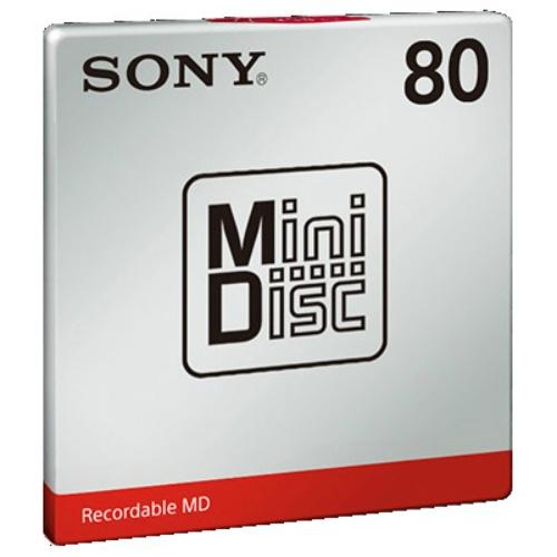 ミニディスクはソニー 「MiniDisc」ロゴを中心に据えた、飽きないパッケージ ソニー MDW80T ミニディスク 80分 1枚  【まとめ買い×5】SONY ミニディスク (80分、1枚パック) MDW80T×5点セット(4548736017160)