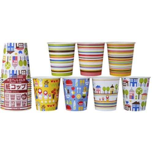 【120個で送料無料】日本デキシー 北欧デザインカップ 205ml ( 内容量: 15個 ) ×120点セット ( 4902172101010 )