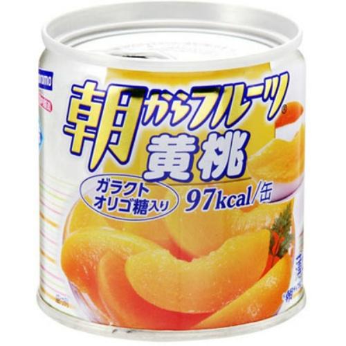 朝からフルーツ 黄桃 190g オリゴ糖を添加したシラップ漬けフルーツ 栄養分の吸収を高めました 令和 早い者勝ちセール 食品 超激安 缶詰め 果物 缶詰 毎日続々入荷 4902560171038 はごろも 190g