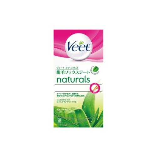 【36個で送料無料】ヴィート ナチュラルズ 脱毛ワックスシート 5組 ( 10枚 ) ( Veet Naturals Wax Strips ) ×36点セット ( 4906156037265 )
