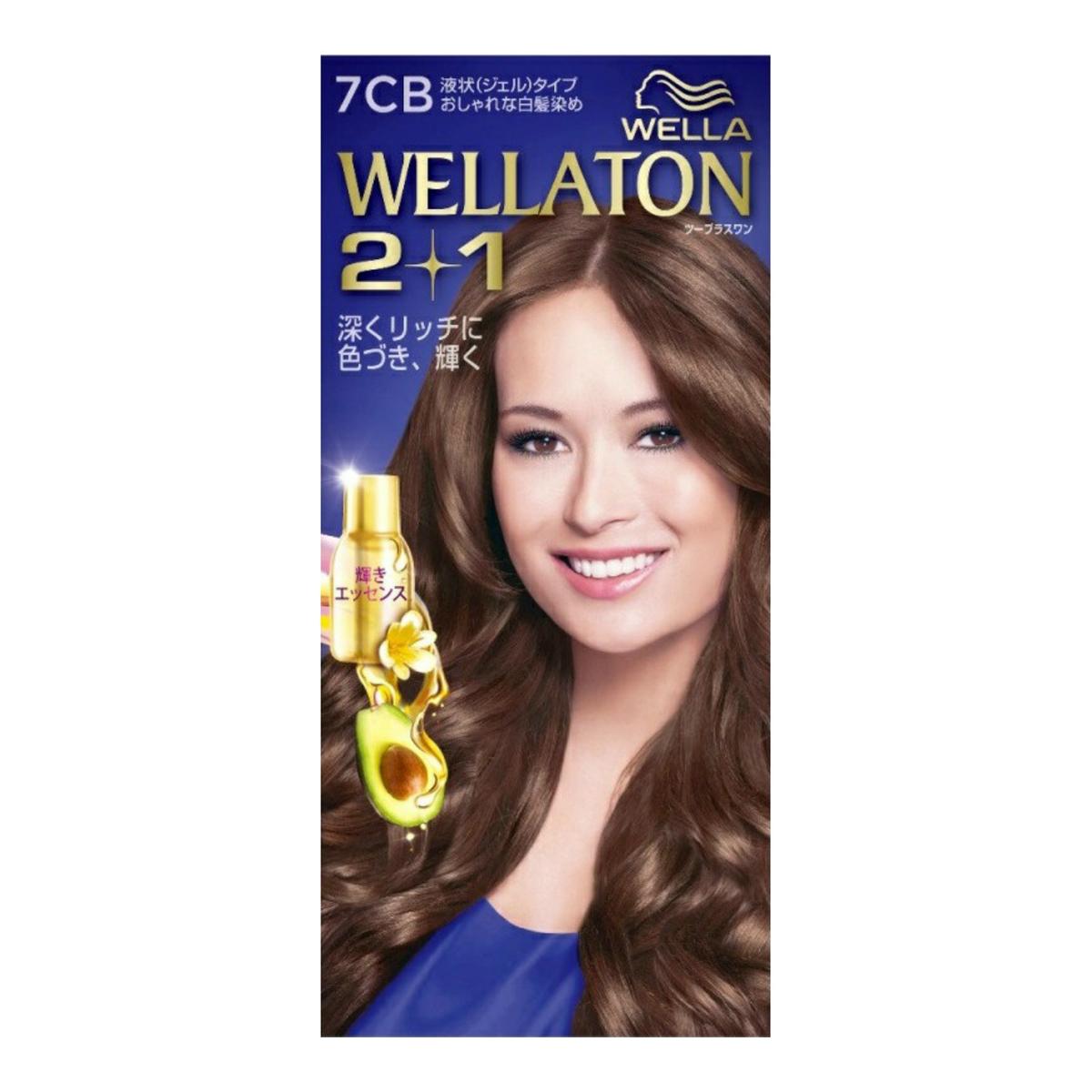 【送料無料・まとめ買い×10】ウエラトーン ツープラスワン ( 2+1 ) 液状タイプ 7CB ( 女性用白髪染め ) ×10点セット ( 4056800251353 )