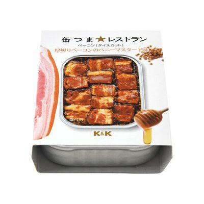 K&K 깡통 개에서 레스토랑 두꺼운 베이컨에 허니 머스타드 맛 105g (4901592895356) (식품/통조림/안주)