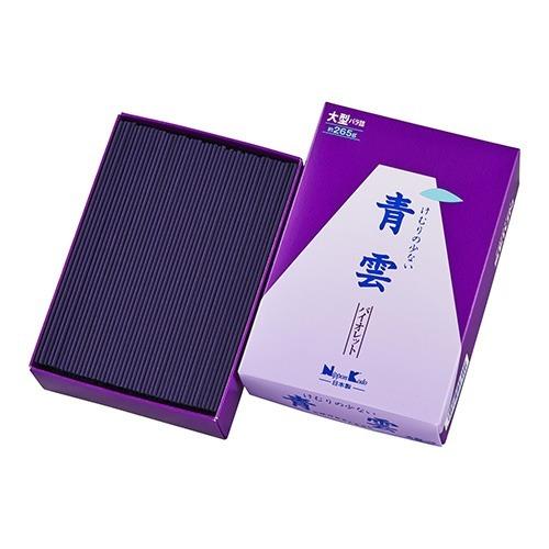 けむりの量:かなり少ない ソフトで上品なフローラル調の香り 日本香堂 お線香 人気急上昇 大型バラ詰 お買い得品 青雲バイオレット 4902125247000
