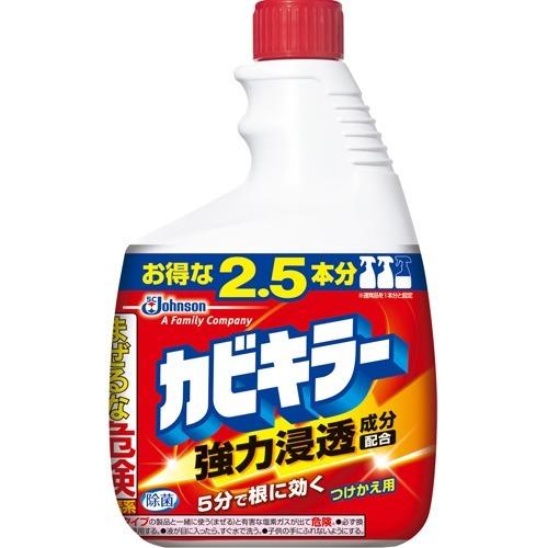 「カビキラー 特大サイズ つけかえ用 1kg」は、落ちにくいカビの根の奥にも強力に浸透するおふろ用洗剤。お風呂場のゴムパッキンなどに入り込んだしつこいカビにも。つけかえ用 ジョンソン カビキラー 特大サイズ つけかえ用 1kg お得な2.5本分 ( 浴室のカビ取り洗剤 ) ( 4901609000155 )