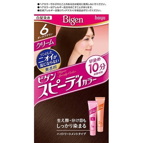 【送料無料】ホーユー ビゲン スピーディカラークリーム 6 ( ダークブラウン ) ×27点セット まとめ買い特価!ケース販売 ( 4987205041174 )
