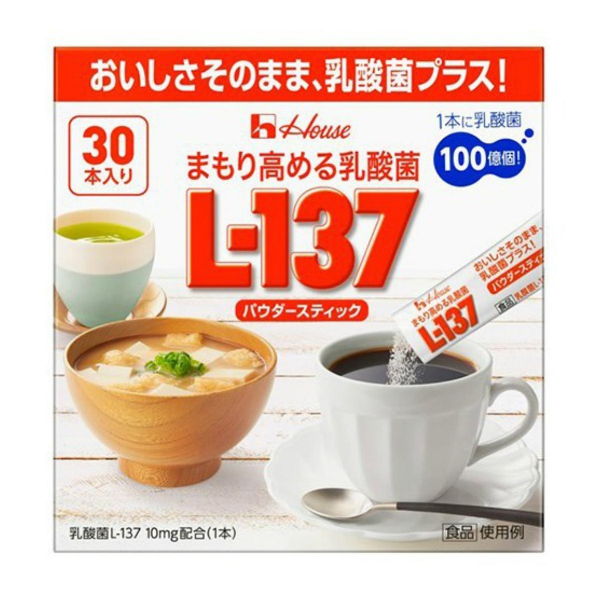 【送料無料・まとめ買い×10】ハウス まもり高める乳酸菌 L-137 パウダースティック 30本入