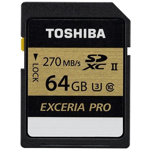 東芝 エクセリア プロ SDXCカード 64GB UHS-II SDXU-C064G(1コ入)