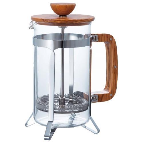 【直送・代引不可・同梱不可】ハリオグラス ハリオ カフェプレス・ウッド 4杯用(1コ入)