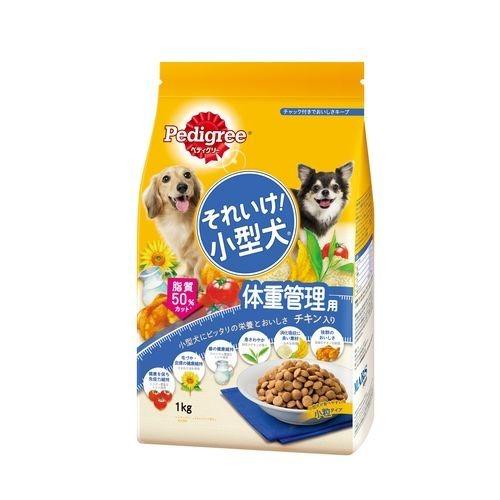 【・まとめ買い×10】PK6 ペディグリーそれいけ!小型犬 体重管理用 チキン入り 1KG ×10点セット(4902397817789)