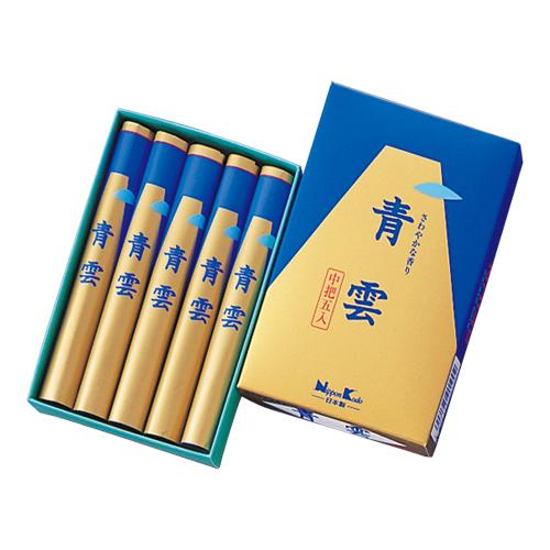 【送料無料・まとめ買い×100】日本香堂 お線香 「 青雲 中5把入 」×100点セット(4902125201002)