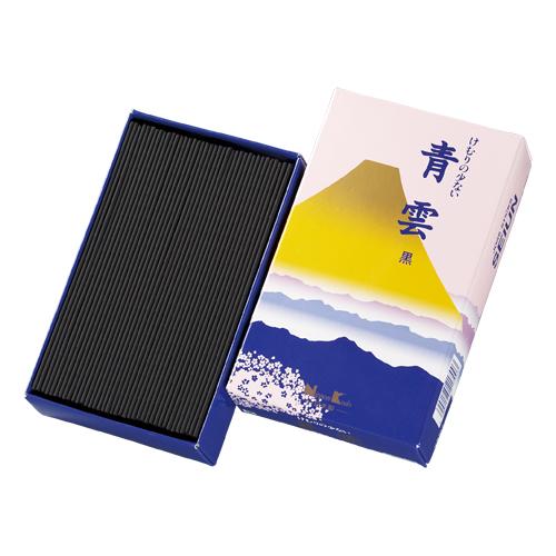 【送料無料・まとめ買い×10】お線香 「 青雲 黒 大型バラ詰 」 ×10点セット(4902125217003)