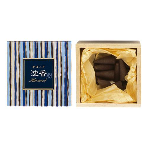 【送料無料・まとめ買い×168】日本香堂 お香 インセンス 「かゆらぎ 沈香 コーン型12個入」×168点セット(4902125384118)