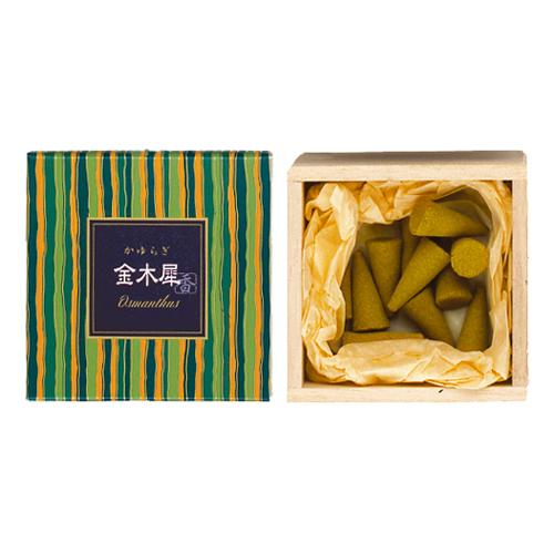 【送料無料・まとめ買い×168】日本香堂 お香 インセンス 「かゆらぎ 金木犀 コーン型12個入」×168点セット(4902125384149)