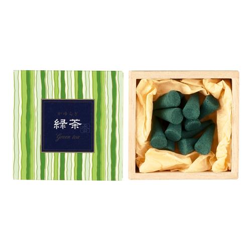 【送料無料・まとめ買い×168】お香 インセンス 「かゆらぎ 緑茶 コーン型12個入」 ×168点セット(4902125384569)