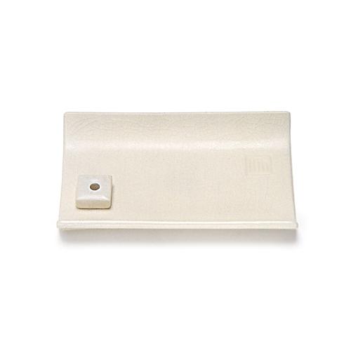 【送料無料・まとめ買い×108】日本香堂 縁 香皿 白磁色×108点セット(4902125750142)