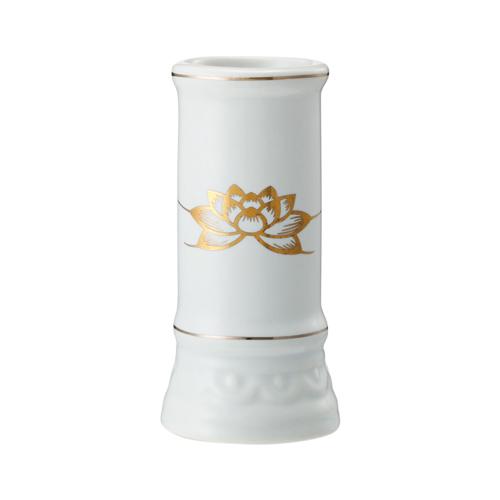 【送料無料・まとめ買い×144】日本香堂 線香立て ミニ陶器白磁×144点セット(4904872181149)