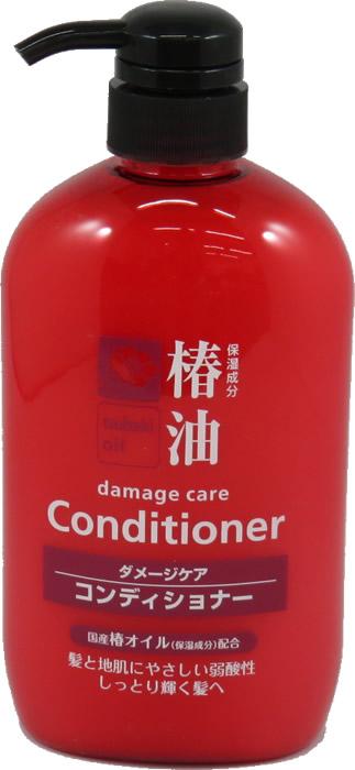 【16個で送料込】熊野油脂 椿油コンディショナー 600ml 本体×16点セット 保湿成分ツバキ油 ダメージケアコンディショナー 髪と地肌にやさしい弱酸性 ( 4582400830143 )