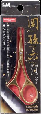 【送料無料・まとめ買い×120】貝印 関孫六 ゴールドハサミ×120点セット(4901601286601)