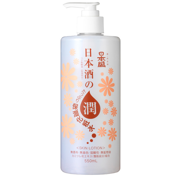 【ケース販売・送料無料】日本盛 日本酒のたっぷり保湿化粧水 550ML 本体ボトル×18本セット ( 4904070057062 ) ( 化粧水・大容量・日用品 )