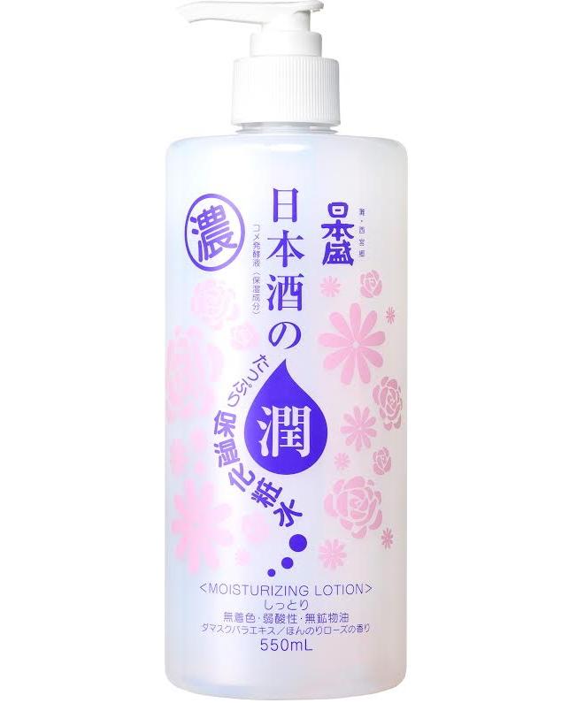 【18個で送料無料】日本盛 日本酒のたっぷり保湿化粧水 しっとり 550ML×18点セット 本体 ほんのりローズの香り ( 4904070057901 )
