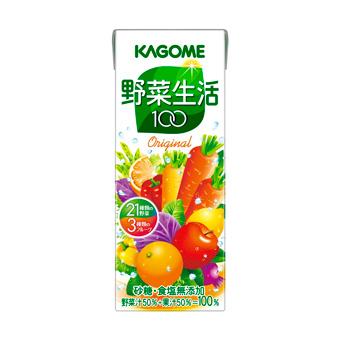 戈薇菜生活 100 原始 200 毫升 × 24 集 (蔬菜汁纸箱和原始生活) (4901306044063)