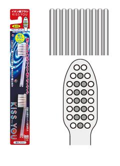 【送料無料】キスユー イオン歯ブラシ 替えブラシ フラットレギュラー かため 2本入 ( KISS YOU ブラシ交換式のハブラシ ) ×120点セット まとめ買い特価!ケース販売 ( 4969542131749 )