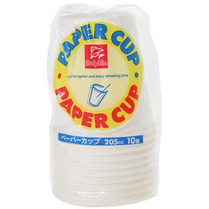 特売 DN紙コップ 205ML10P 温かい飲み物にも 冷たい飲み物にも 手軽に使用できる紙コップ 簡易コップ 205mlサイズ ドルフィン 紙カップ 10個入り 4975810181873 マート ペーパーカップ