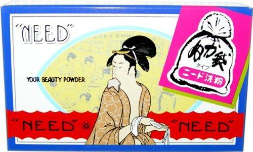 【96個で送料無料】ニード 布袋入洗い粉 81G 昔なつかしいぬか袋タイプの布袋入洗粉 ( 洗顔 パウダー ) ×96点セット ( 4904546000011 )