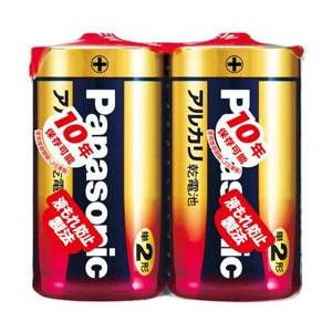 【100個で送料無料】パナソニック パナソニック アルカリ乾電池 単2形 2本パック LR14XJ/2SE ×100点セット ( 4984824719736 )