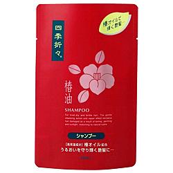 Kumano yushi Shiki-oriori Tsubaki shampoo packed for 450 ML Super ingredient:EX Camellia oil.