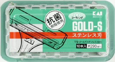 【送料込】貝印 T型ゴールドステン 10本 TGS-10B×200点セット まとめ買い特価!ケース販売 ( 4901331007095 )