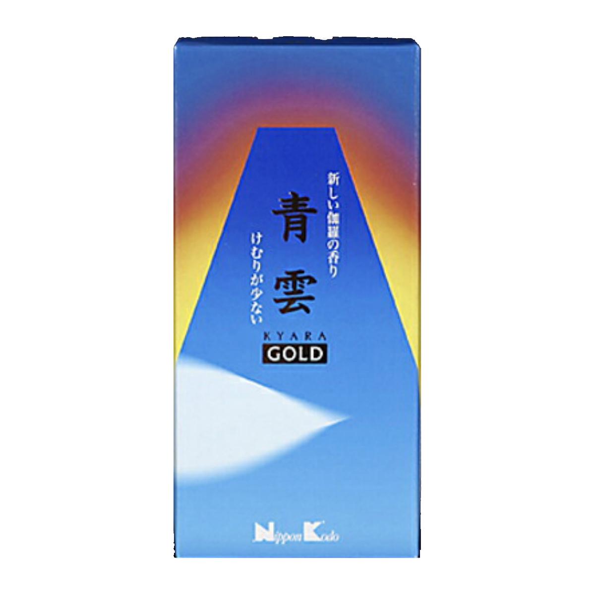 けむりの量:かなり少ない 伽羅の香りを現代風にアレンジした甘味のある香り 令和 早い者勝ちセール 日本香堂 青雲ゴールド お線香 バラ詰 4902125211018 2020 大特価
