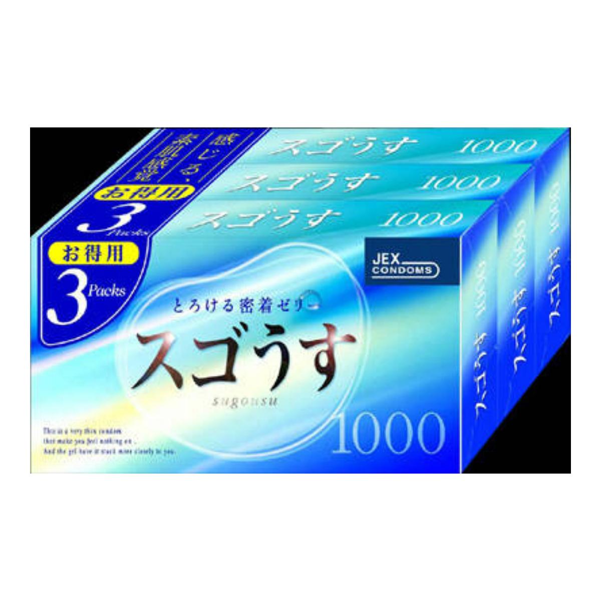 【送料無料・まとめ買い×40】ジェクス スゴうす1000 12個入×3個パック×40点セット ( コンドーム 避妊具 condom )  まとめ買い特価!ケース販売 ( 4973210019239 )